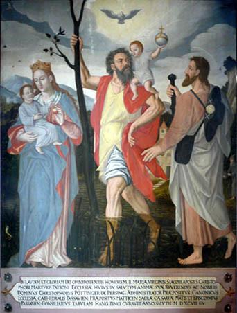 Altarblatt in der Christopherus-Kirche